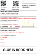 Vectors And Scalars Homework
