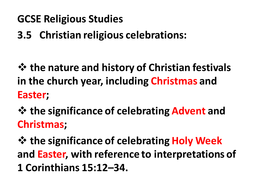gcse religious studies how and why do christians celebrate christmas and easter