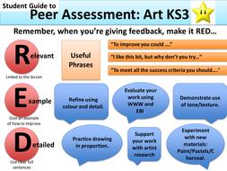 Peer Assessment Guide for KS3 and KS4 Art & Design