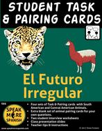 Spanish Task & Pairing Cards for Irregular Future Tense Verbs.  Los Verbos Irregulares del Futuro
