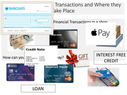 types of financial transaction worksheet