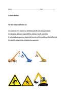 Health and safety booklet, aimed at CSCS