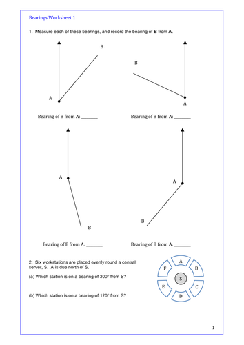 Masculine And Feminine Worksheet Maths Gcse Bearings Two Differentiated Worksheets Plus Plenary  Force And Motion Worksheets 2nd Grade Excel with Benjamin Franklin Worksheets Pdf Two Differentiated Worksheets Plus Plenary Quiz In Pp All With Answers By  Colinbillett  Teaching Resources  Tes Create A Fill In The Blank Worksheet