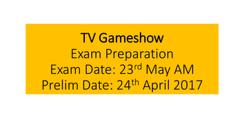 TV Game Show revision AQA MEDIA GCSE