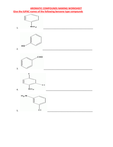 Organic Chemistry Worksheets With Answers By Kunletosin246