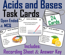Acids and Bases Task Cards