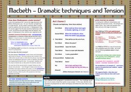 dramatic techniques in macbeth
