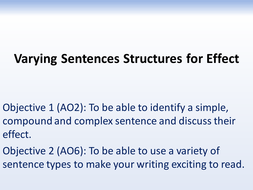 Imaginative writing: Varying sentence structures for effect