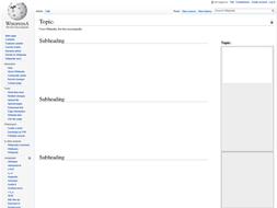 wikipedia template worksheet homework by j leemosley