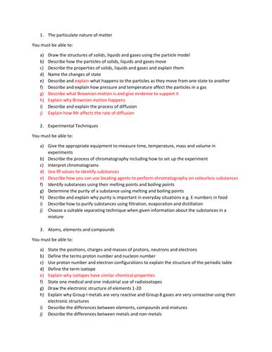 iGCSE Syllabus Breakdown