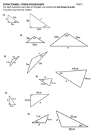 Similar triangles worksheet by DurhamPotter - Teaching Resources - Tes