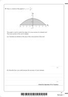 Area under a graph exam questions