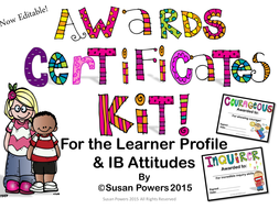 AwardsCertificatesfortheIBPYPLearnerProfileandAttitudes.pptx
