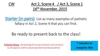 Macbeth - Act 2 Scene 4, Act 3 Scene 1
