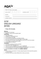 AQA Language GCSE Paper 1 - Great Expectations