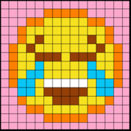 Colouring by Trig Ratios, Happy Tears Emoji (Solo Mosaic)