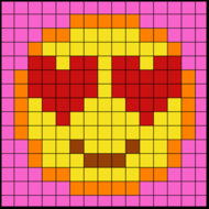 Colouring by Trig Ratios, In Love Emoji (Solo Mosaic)