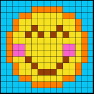 Colouring by Trig Ratios, Proud Emoji (Solo Mosaic)