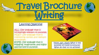 Travel Brochure Writing!