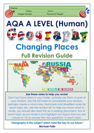 AQA A Level Geography: Changing Places Full Revision Notes Guide