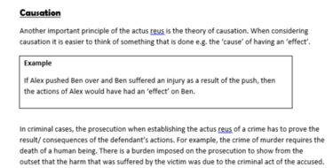 Factual Causation - Criminal Law AQA and OCR