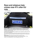 Hate Crime - UK