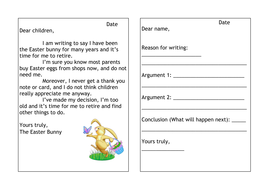 easter bunny persuasive letter writing lesson by hanmade teaching