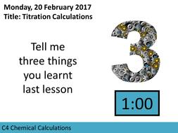 AQA GCSE C4 Chemical Calculations L9 Titration Calculations