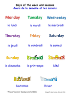 days of the week seasons in french worksheets games activities flash cards with audio by. Black Bedroom Furniture Sets. Home Design Ideas