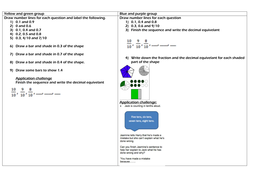 recognising tenths as decimal equivelants by caim  teaching   decimalequivelantstenthsdocx