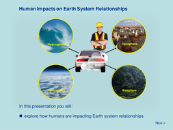 Human Impacts on Earth System Relationships