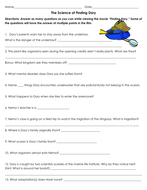 the science of finding dory movie worksheet by sventresca teaching resources tes. Black Bedroom Furniture Sets. Home Design Ideas
