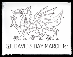 St. David's Day. Colouring Sheet. by StartEducation