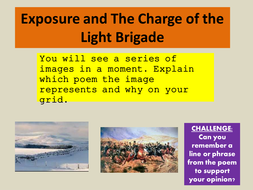 Edexcel Conflict Poetry Exam Style Question -Exposure and The Charge of the Light Brigade