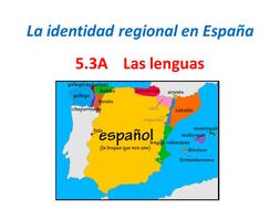 AQA A Level Spanish. Las Lenguas. 5.3A.