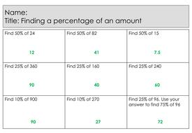 Homework help percentages