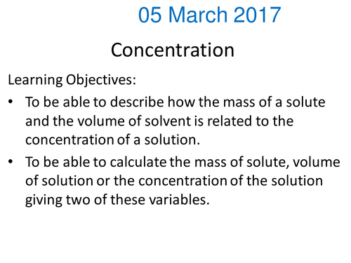 Calculating concentration of solutions in gdm3 by gerwynb – Solution Concentration Worksheet