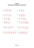 Multiplying and Dividing Fractions Mixed Worksheets
