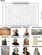 American Revolution Word Search