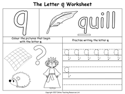 the letter q by online teaching resources teaching resources tes