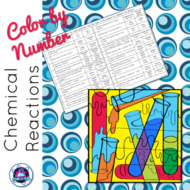 Chemical Reactions Color-by-Number Activity