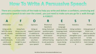 Persuasive speech writer