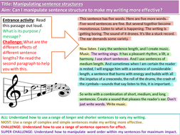 what is structure in writing