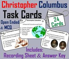 Christopher Columbus Task Cards