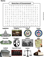 Three Branches of Government Word Search