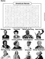 American Heroes Word Search