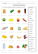 FRENCH - Food and drinks activities - Worksheets