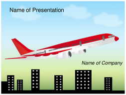 AIRPLANE PPT TEMPLATE