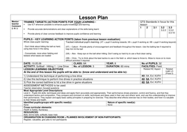 elementary softball lesson plans