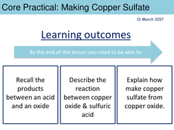 Making a Soluble Salt from an Insoluble Base (Copper Sulfate Core  Practical) Edexcel 9-1